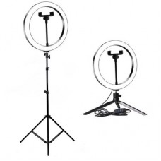 Кольцевая лампа 26см с двумя штативами