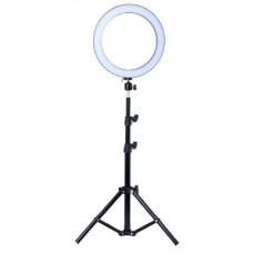 Кольцевая лампа 26см с длинным штативом